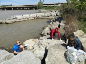 cleaning up at the great Canadian shoreline