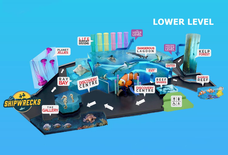 Ripley's Aquarium of Canada map