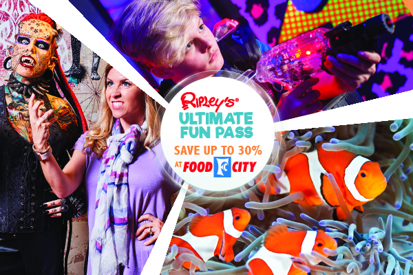 Ripley's Ultimate Fun Pass Food City promotion