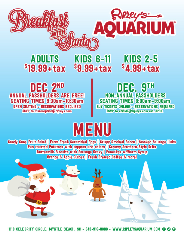 Where You Can Have Breakfast With Santa In Myrtle Beach