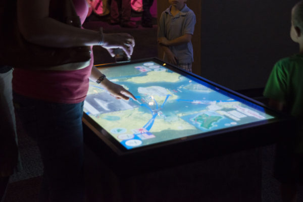 touch table at pearl harbor